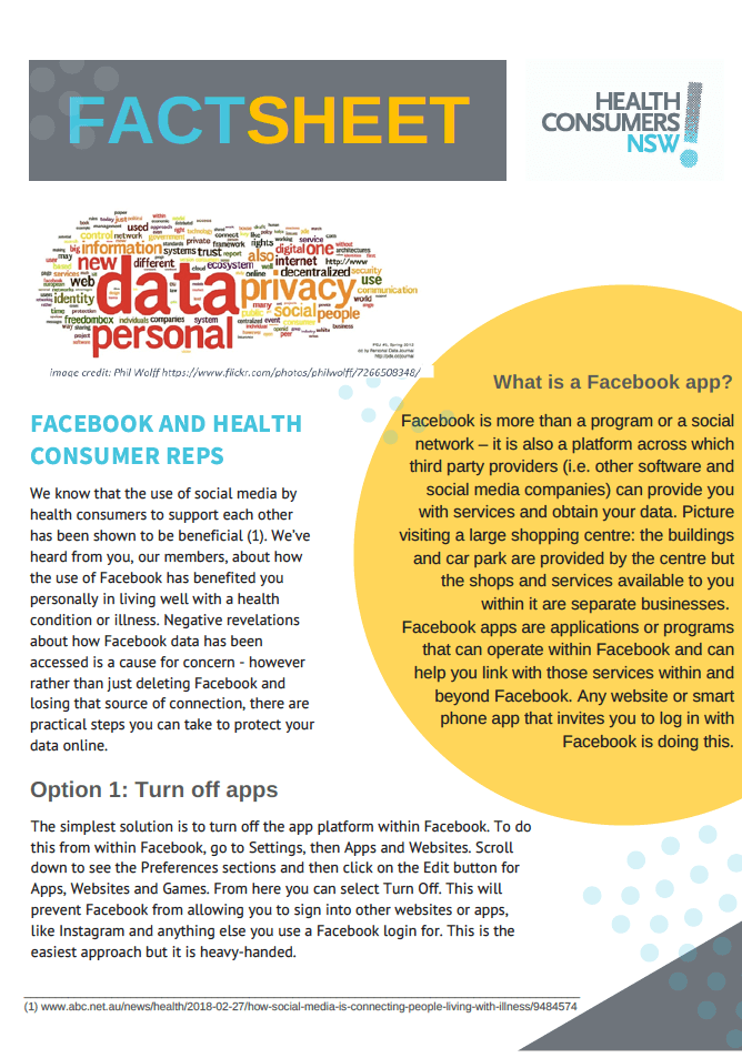 Facebook for health consumer advocates