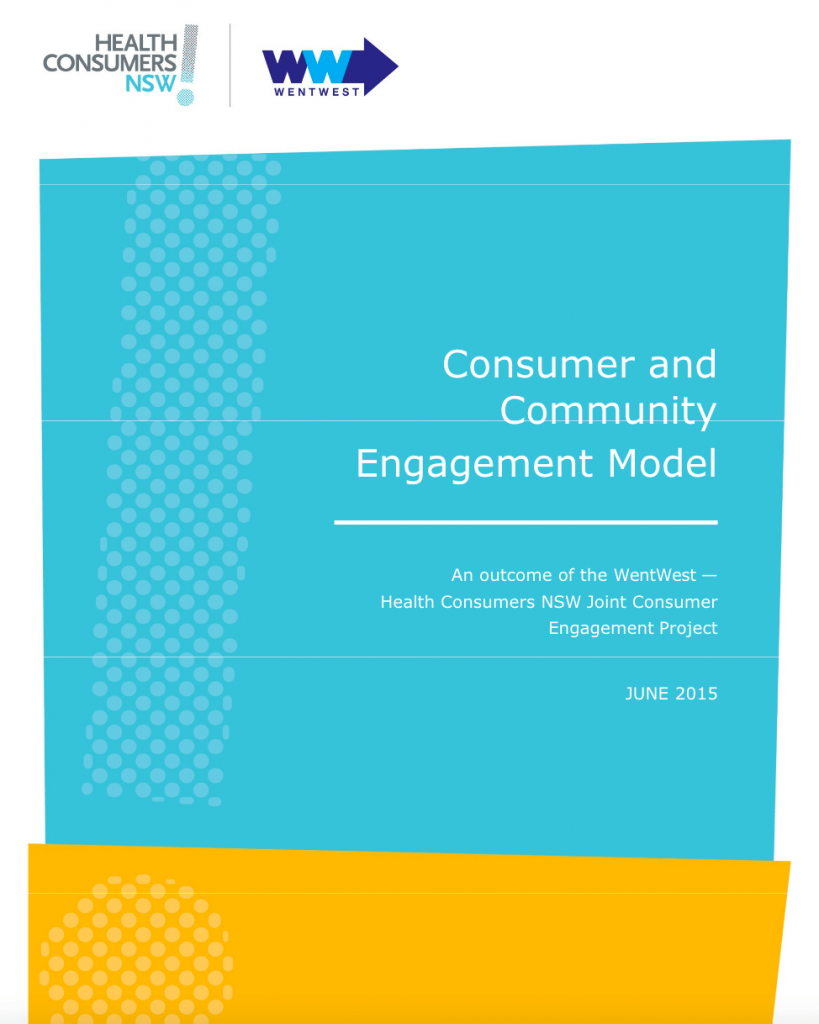 Consumer and Community Engagement Model report