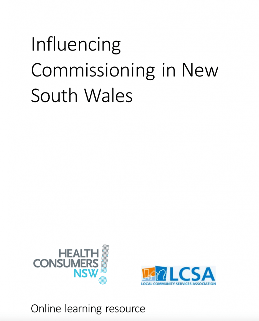 Influencing Commissioning in NSW
