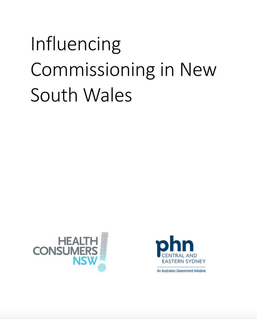 Influencing Commissioning in NSW - Facilitator Manual
